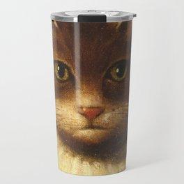 Cat In A Ruff Cute Victorian Art Travel Mug
