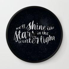 Shine like Stars - Winter Wall Clock