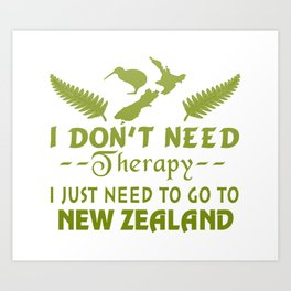GO TO NEW ZEALAND Art Print