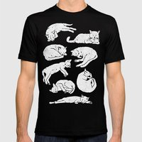 Sleeping Cats Mens Fitted Tee MEDIUM Black