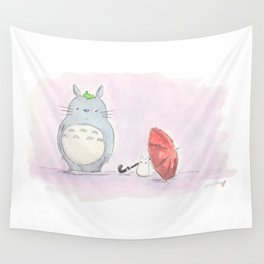 Red Umbrella Wall Tapestry
