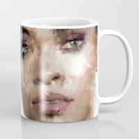 rihanna Mugs featuring Rihanna by Dnzsea