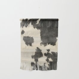 Black & White Cow Hide Wall Hanging