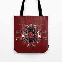 sound Tote Bags featuring Sound by Carly Curgenven