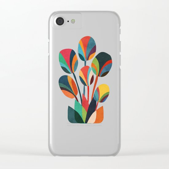 Ikebana - Geometric flower Clear iPhone Case