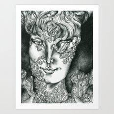 Fungal Demon Princess  Art Print