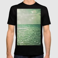 Sea of Happiness Mens Fitted Tee Black 2X-LARGE