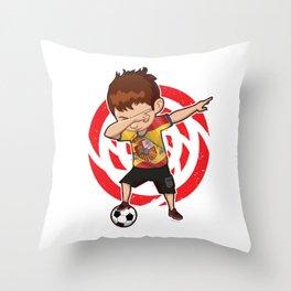 Football Dab Spain Spaniards Spanish Footballer Dabbing Rugby Goal Soccer Gift Throw Pillow