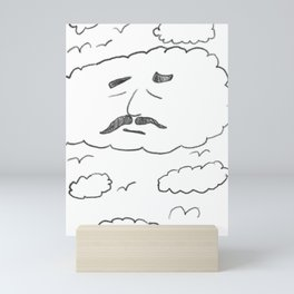 Sky Mustache Cloud Mini Art Print
