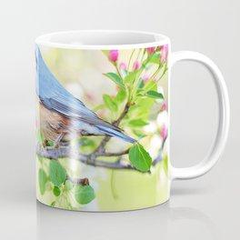 A Bird on a Blossoming Tree Branch Coffee Mug