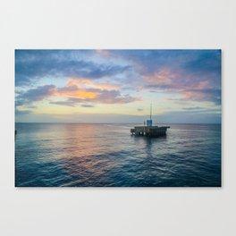 Sunset on the Atlantic Canvas Print