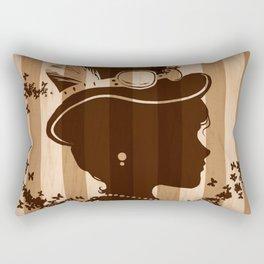 Steampunk Silhouette  Rectangular Pillow