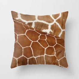 Giraffe Design Illustration Background Throw Pillow