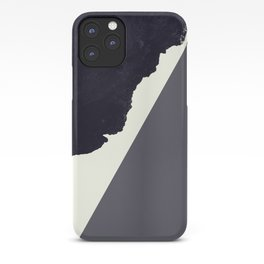 Contemporary Minimalistic Black and White Art iPhone Case