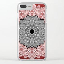 Cinnamon Pepper Warm Mandala Red White Black Clear iPhone Case