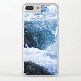 Tumble & Swirl Clear iPhone Case