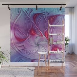 flames on texture -44- Wall Mural