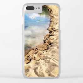 Ying Yang beach Clear iPhone Case