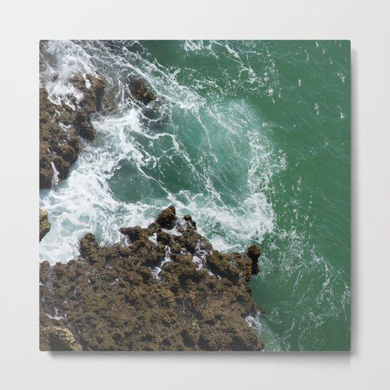 Green Ocean Atlantique Metal Print