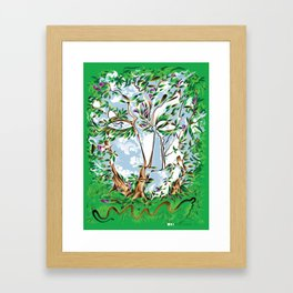 Between the Trees Framed Art Print