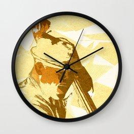 Jazz Contrabassist Poster Wall Clock