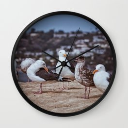 Summer By The Oceanside Wall Clock