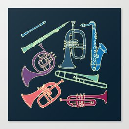 Wind instruments Canvas Print