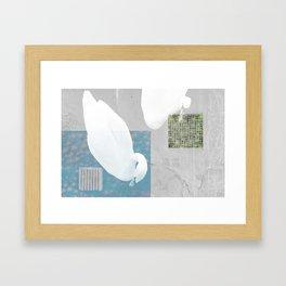 THE ENVIOUS SWAN Framed Art Print