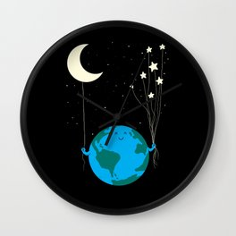 Under the moon and stars Wall Clock