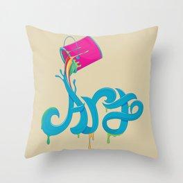 Colorart Throw Pillow