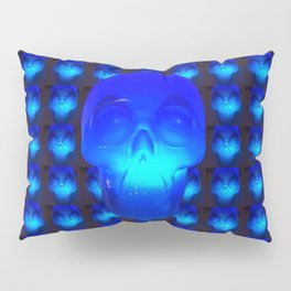 Blue Crystal Skull Pillow Sham