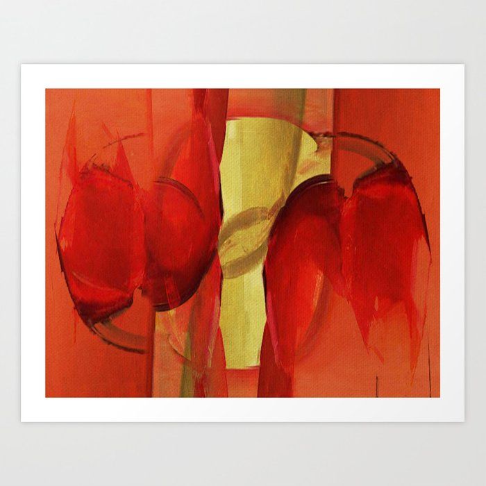 Two Red Horses Art Print