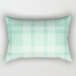 Mint Plaid Rectangular Pillow
