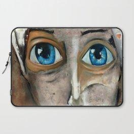 Oleo de mujer de ojos azules Laptop Sleeve