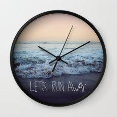 Let's Run Away x Arcadia Beach Wall Clock