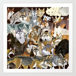 Wolves o´clock (Time to Wolf) Art Print