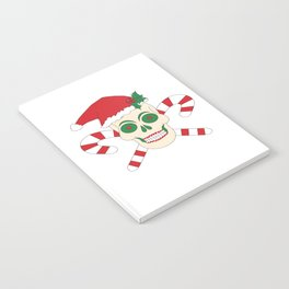Creepy Christmas Santa Skull Notebook
