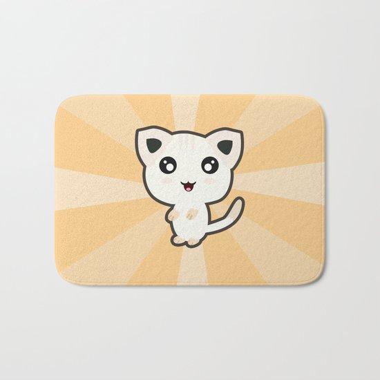 Kawaii Cat Bath Mat