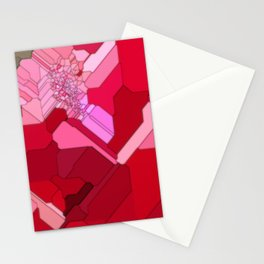 Red Abstract from a Geranium Stationery Cards