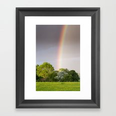 End of the Rainbow Framed Art Print