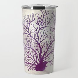 Purple and Ivory Coral Travel Mug
