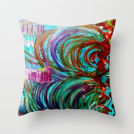 FLOW WITH THE GO Throw Pillow