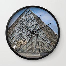 Louvre Pyramid Wall Clock