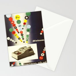 divisuma hispano olivetti  vintage Poster Stationery Cards