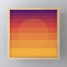 Peaceful Sunset Framed Mini Art Print