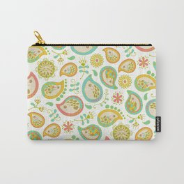 Hedgehog Paisley_Green outline Carry-All Pouch