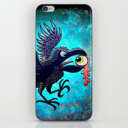 Crow Stealing an Eye iPhone Skin