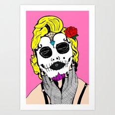 Dia De Los Marilyn En COLOR! Art Print
