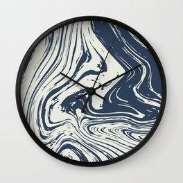 Abstract River Wall Clock
