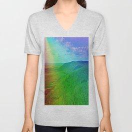 Rainbow Mountain Unisex V-Neck